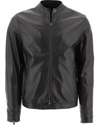 "Tagliatore ""stanley"" Leather Jacket - Black"