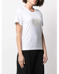 See By Chloé Slogan-print Short-sleeved T-shirt - White