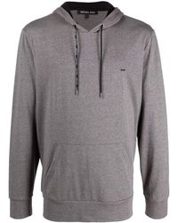 Michael Kors Logo-detail Pullover Hoodie - Gray