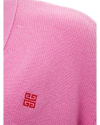 Givenchy Oversize Wool Cardigan With Logo - Pink