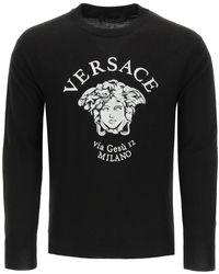 Versace Jumper Medusa Via Gesù 12 - Black