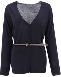 Peserico Other Materials Cardigan - Blue