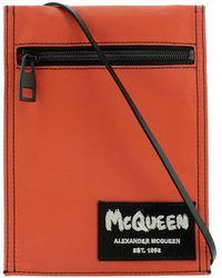 "Alexander McQueen ""graffiti"" Crossbody Bag - Orange"