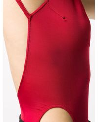 Rick Owens Cut-out Open-back Bodysuit - Red