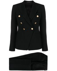 Tagliatore Double-breasted Two-piece Suit - Black