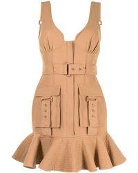 Acler Vermont Ruffle-hem Dress - Brown