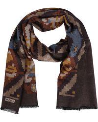 Kiton Brown Silk Scarf