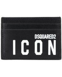 DSquared² Logo Print Cardholder - Black