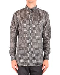 Paolo Pecora Printed Shirt In - Black