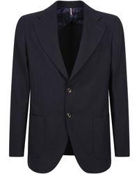 Dell'Oglio Single-breasted Jacket - Blue