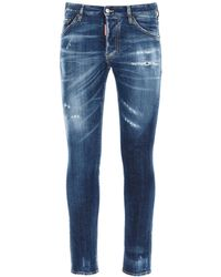 DSquared² Cool Guy Jeans With Pocket Logo Print 44 Cotton - Blue