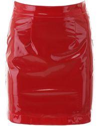 Kirin Vinyl Mini Skirt - Red