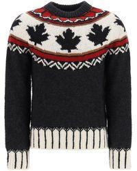 DSquared² Fair Isle Intarsia Sweater - Black