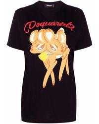DSquared² Logo Print T-shirt - Black