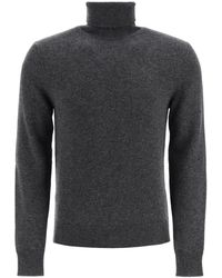 Dolce & Gabbana Turtleneck Knit Sweater - Gray
