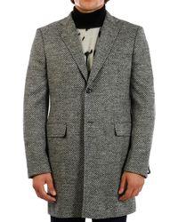 Tonello - Gray Wool Coat - Lyst