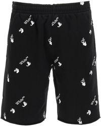 Off-White c/o Virgil Abloh All-over Logo Shorts S Cotton - Black