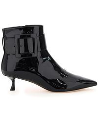 Roger Vivier Pointy Patent Ankle Boots - Multicolour