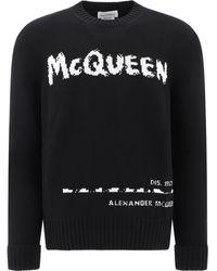 Alexander McQueen - Graffiti Sweater - Lyst