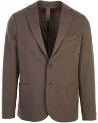 Eleventy Cotton Blazer - Brown
