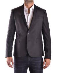 Les Hommes Polyester Blazer - Black