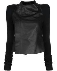 Rick Owens Phlegethon Leather Biker Jacket - Black