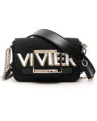 Roger Vivier Call Me Tres Vivier Micro Bag - Black