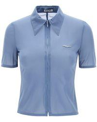 Miu Miu Run-proof Shirt - Blue