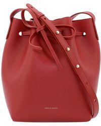Mansur Gavriel Mini Bucket Bag - Red