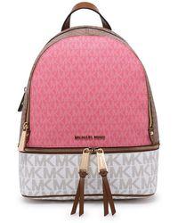 MICHAEL Michael Kors - Pink Medium Rhea Backpack - Lyst