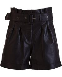 Arma Leather Shorts With Belt - Black