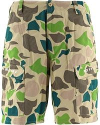 BBCICECREAM Camouflage Cargo Shorts - Green