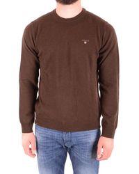 GANT Mcbi36785 Brown Wool Jumper