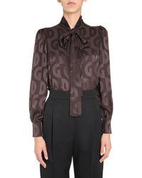 Dolce & Gabbana Shirt With Bow - Brown