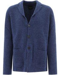 Roberto Collina Three-button Cardigan - Blue