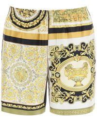 Versace Barocco Mosaic Patchwork Print Shorts - Multicolor