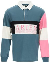 Aries Long-sleeved Rugby Polo Shirt - Multicolour