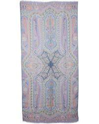 Etro Light Other Materials Scarf - Blue