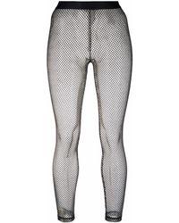 P.A.R.O.S.H. Open-knit leggings - White
