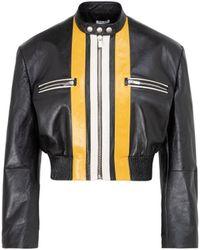 Miu Miu Leather Jacket - Black