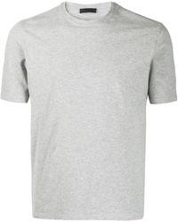 Prada Logo Patch T-shirt - Grey