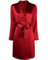 La Perla Short Silk Robe - Red