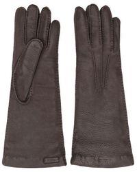 Prada Tonal Stitching Leather Gloves - Multicolor