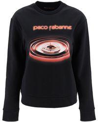 Paco Rabanne Printed Sweatshirt - Black