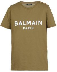 Balmain T-shirts And Polos Green