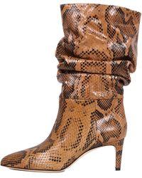 Paris Texas Sneker Print Boots - Brown
