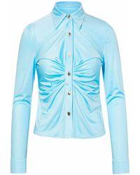 Versace - Light Blue Shirt - Lyst
