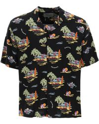 Carhartt Beach Print Hawaiian Shirt S - Black