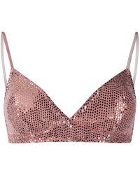 Forte Forte Pailette Embellished Bra - Pink