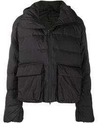 Y-3 Funnel Neck Puffer Jacket - Black